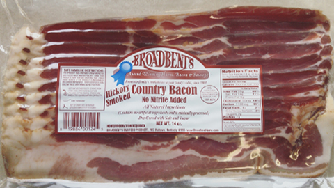 Broadbent Farms Nitrite Free Hickory Bacon Smoked Bacon